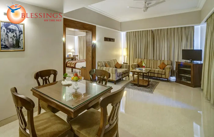 Living room of suite at Renest Shirdi