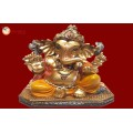 Ganesha Gold With Colour 30564