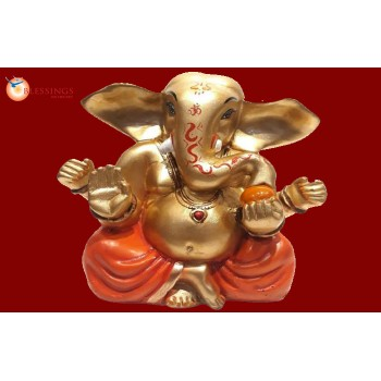 Ganesha Gold With Colour 30565