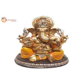Ganesha Gold With Colour 30569