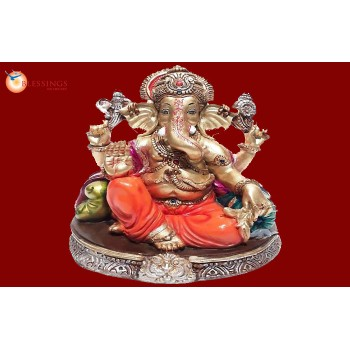 Ganesha Gold With Colour 30571