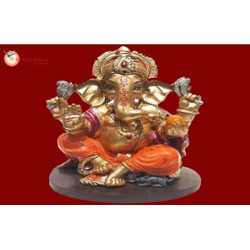 Ganesha Gold With Colour 30573