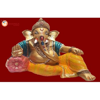 Ganesha Gold With Colour 30574