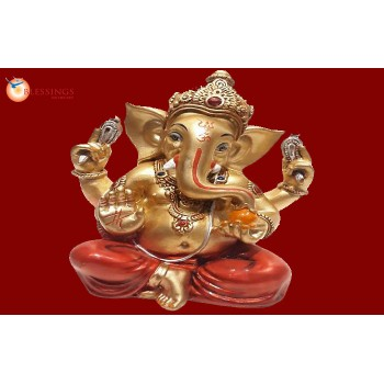 Ganesha Gold With Colour 30575