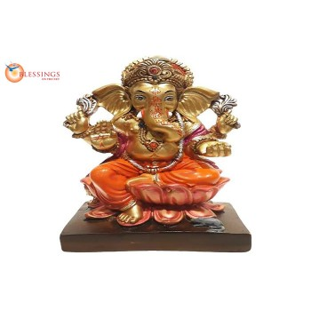 Ganesha Gold With Colour 30576