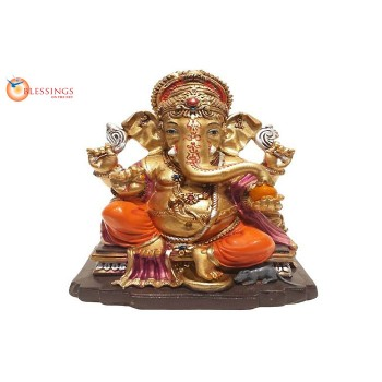 Ganesha Gold With Colour 30578