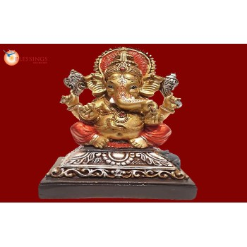 Ganesha Gold With Colour 30579