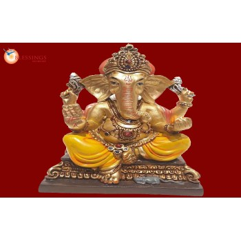 Ganesha Gold With Colour 30580