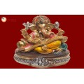 Ganesha Gold With Colour 30581
