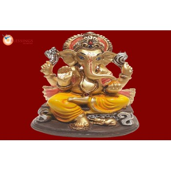 Ganesha Gold With Colour 30582