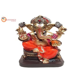 Ganesha Gold With Colour 30590