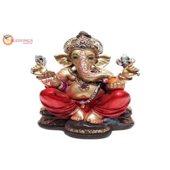 Ganesha Gold With Colour 30595