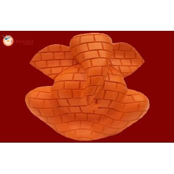Ganesh Brick Effect Orange 30273