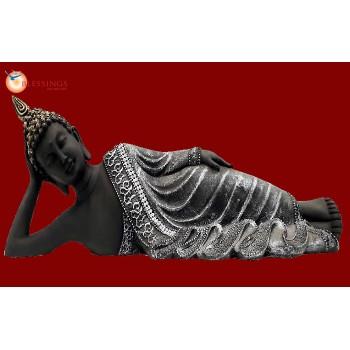 Sleeping Buddha Black Silver 30187