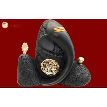 Shivling-Ganesh-BLACK-GOLD