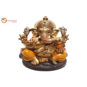 Ganesha Gold With Colour 30567